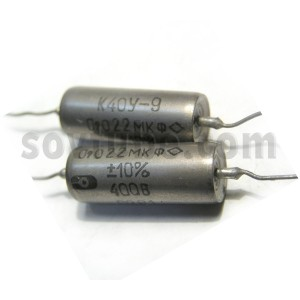 0.022uF 400V PIO Capacitors K40Y-9. Lot of 2 NEW