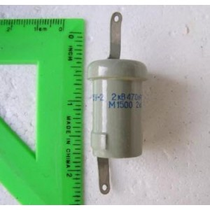 K15Y-2 470pF 2kV 2kVAR Doorknob Capacitor K15U Lot 10 NOS