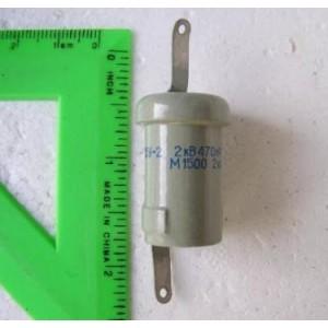 680pF 2kV 2.5kVAR Doorknob Capacitor K15U Lot 10 NOS
