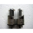 6N8S / 6SN7 / ECC32   Tubes Lot 2 METAL BASE 1956