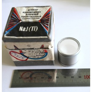 Russian  Scintillator NaI(Tl) 25*25mm NEW Scintillation Detector
