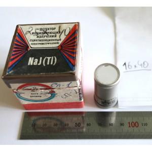 Russian  Scintillator NaI(Tl) 16*40 mm NEW Scintillation Detector