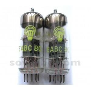 Eabc 80, tube eabc80; röhre eabc 80 id399, triple diode-trio.